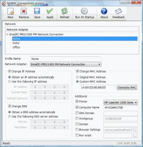 NetMAC 1.0 - náhled