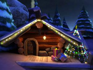 Santa's Home 3D Screensaver 1.0 - náhled