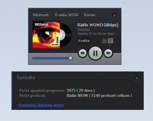 Rádio WOW Player 1.0 - náhled