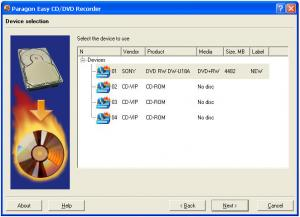 Easy CD/DVD Recorder 9.0 - náhled