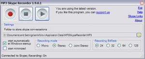 MP3 Skype Recorder 4.31 - náhled