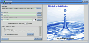 CD Splash 3.0.1 - náhled