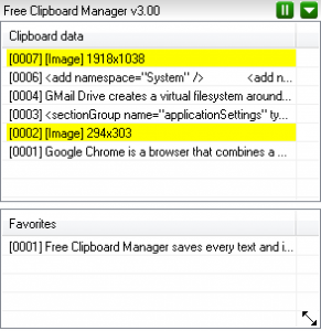 Free Clipboard Manager 3.63 - náhled