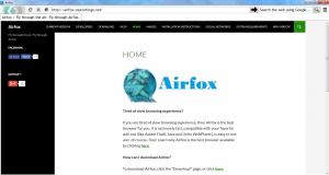Airfox 1.5 - náhled