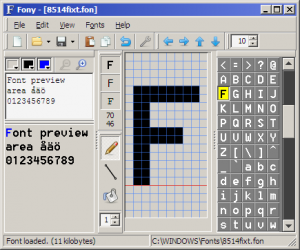 Fony 1.4.0 beta - náhled