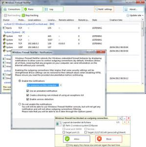 Windows Firewall Notifier 1.7.0 - náhled