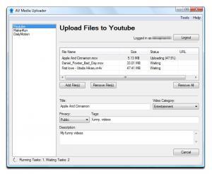 AV Media Uploader 1.0.16 - náhled