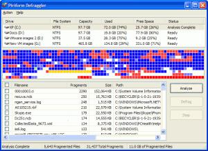 Defraggler 2.21.993 - náhled