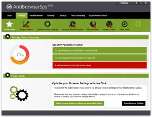 AntiBrowserSpy 2015 - náhled
