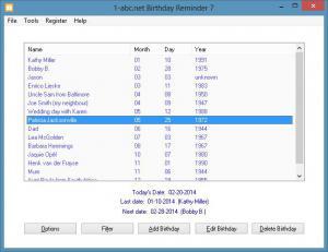 1-abc.net Birthday Reminder 8.00 - náhled
