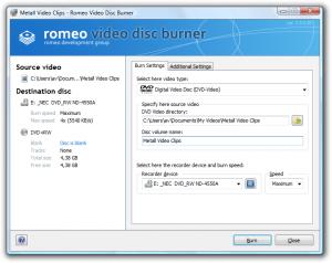 Romeo Burner Trial 2.3.2 - náhled