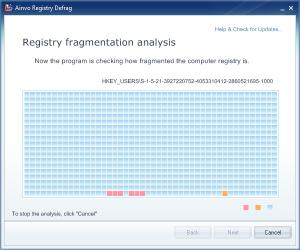 Ainvo Registry Defrag 4.1.7.2010 - náhled