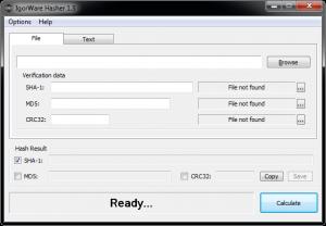 IgorWare Hasher 1.7.1 - náhled