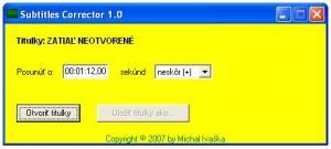 Subtitles Corrector 1.0 - náhled