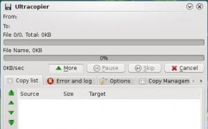 Ultracopier 1.4.0.6 - náhled