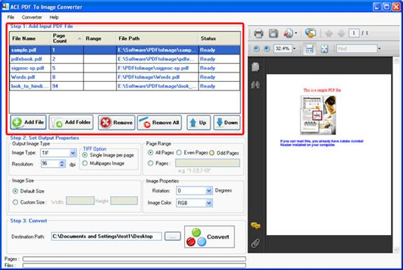 how to convert tiff to pdf in windows 7