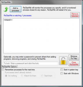 ReStartMe 2.0 - náhled