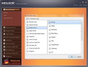 Modiac Video Converter 2.5.0.4134 - náhled