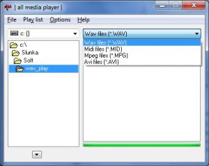 WV Player 1.1.4.0 - náhled