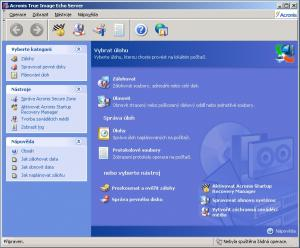 Acronis True Image Echo Server for Windows - náhled