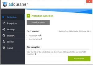 ADcleaner 1.6 - náhled
