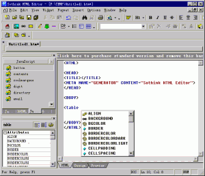 Sothink HTML Editor 2.5 - náhled