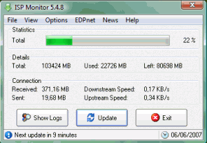 ISP Monitor 5.7.5 - náhled