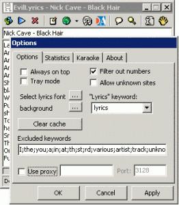 EvilLyrics 0.1.91 - náhled