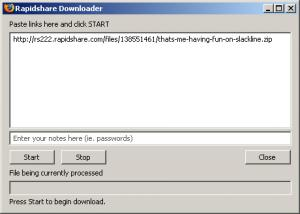 RDown - Rapidshare Downloader 0.6.0 - náhled