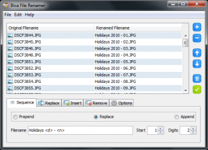 Bica File Renamer 1.4 - náhled