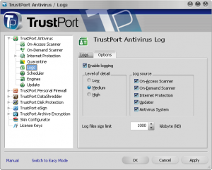 TrustPort Total Protection 2014 14.0.2.5250 - náhled