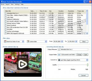 Auto YouTube Downloader 1.21 - náhled