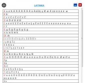 Tabulka Znaků 3.0 - náhled