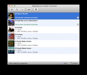 MediaHuman Audio Converter 1.7.7 - náhled