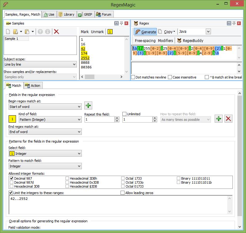 RegexMagic 2.4.0 - Plná licence - 1 licence