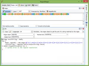 RegexMagic 2.7.2 - náhled