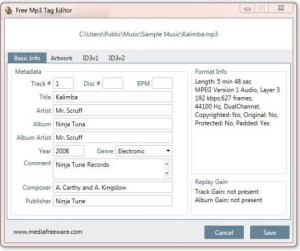 Free Mp3 Tag Editor 1.0 - náhled