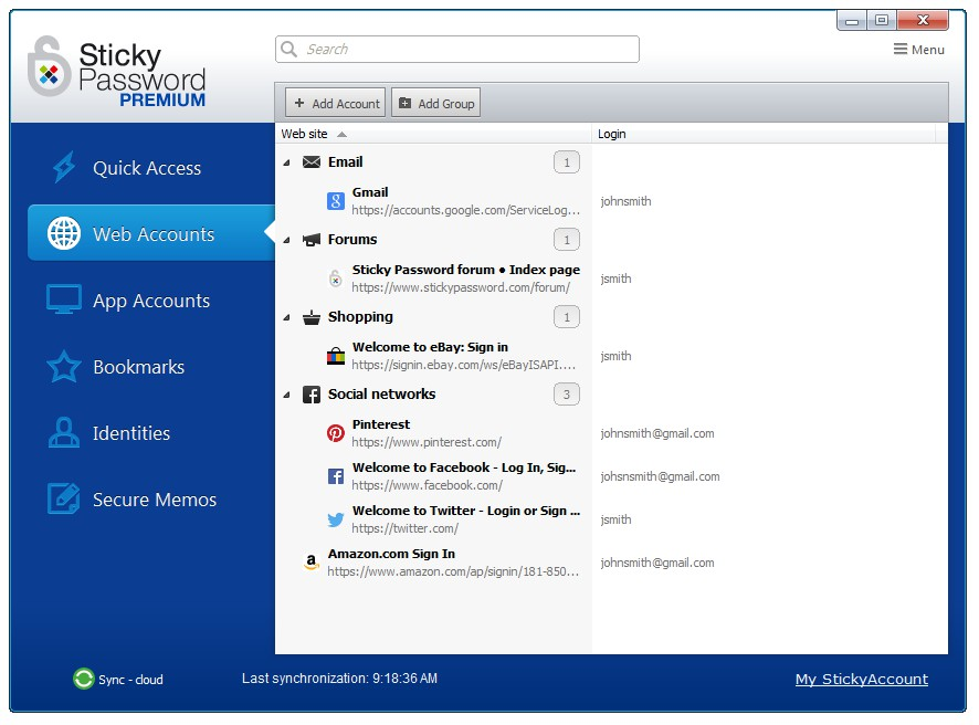 Sticky Password 8.0.11.49 - Premium - 1 licence