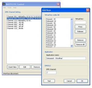 DMX512 PC Control 1.0 - náhled