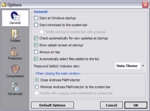Androsa FileProtector Portable 1.4.4 - náhled