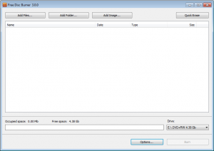 Free Disk Burner 3.0.27.805 - náhled