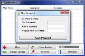AppAdmin 1.1.0 - náhled