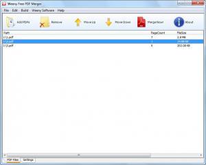 Weeny Free PDF Merger 2.0 - náhled