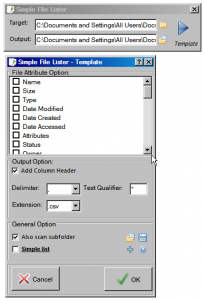 Simple File Lister 1.0 - náhled