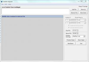 Subtitle Adjuster 1.0 - náhled