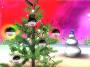 3D Christmas Space Screensaver 1.5 - náhled