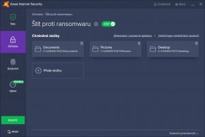 Ransomware štít - náhled