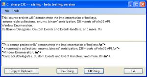 C_sharp C/C++ String Creator 1.0.0.0 - náhled