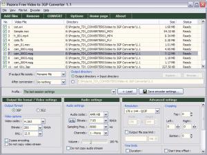 Pazera Free Video to 3GP Converter 1.2 - náhled