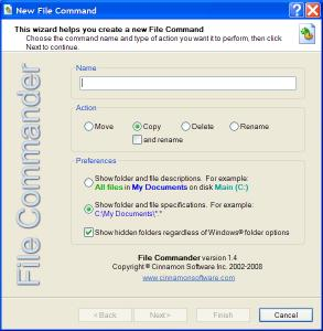 File Commander 2.0 - náhled